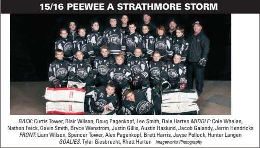 15/16 PEEWEE A STRATHMORE STORM BACK: Curtis Tower, Blair Wilson, Doug Pagenkopf, Lee Smith, Dale