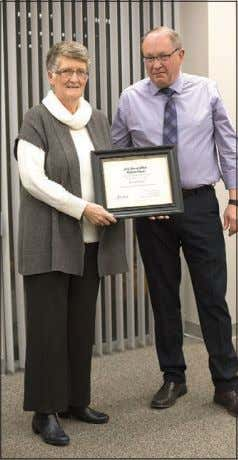 Recognition deserved Councillor Bob Sobol presented Donalda Ladene with a Certificate of Recognition for her