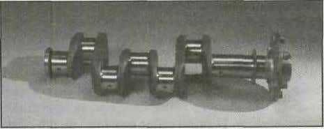 Reciprocating Engines Figure 1-15. A typical four-throw crankshaft used in a hori- zontally opposed engine is