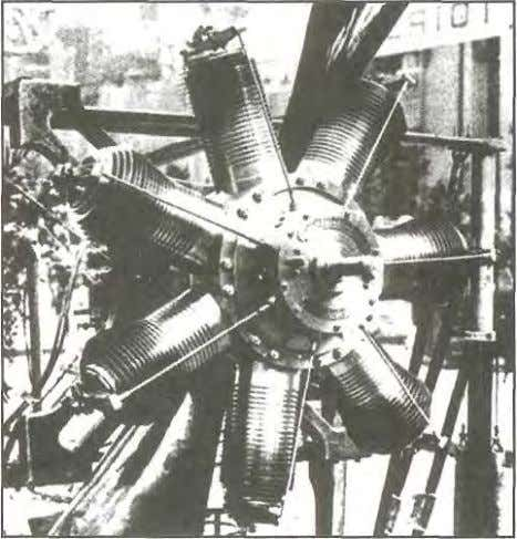 DESIGN AND CONSTRUCTION Figure 1-1. On rotary-type radial engines, the propeller and cylinders are physically bolted