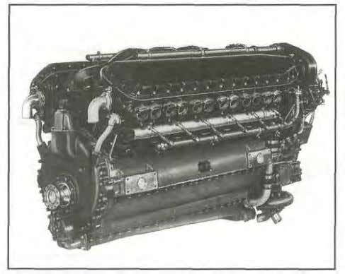inverted V-type engine. OPPOSED-TYPE ENGINES Figure 1-5. V-type engines provide an excellent combina-