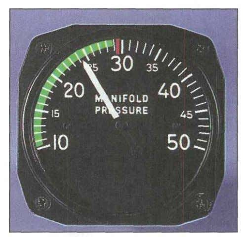 absolute pressure. Depending on the type of gauge, the Figure 2-8. A manifold absolute pressure gauge