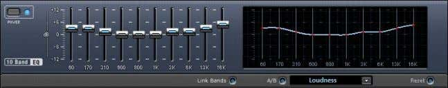 Abb. 5: Grafischer 10-Band Equalizer im Magix Music Maker