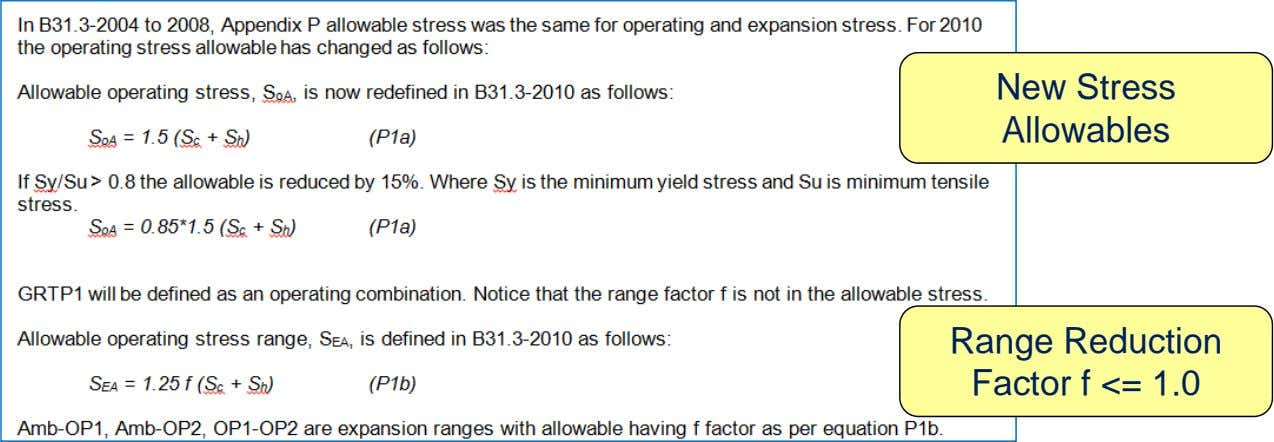 New Stress Allowables Range Reduction Factor f <= 1.0