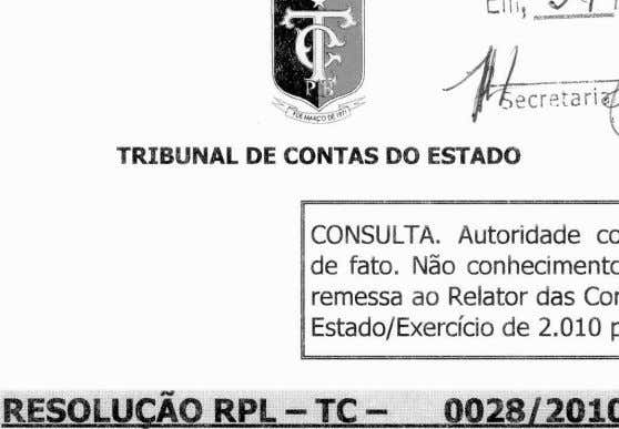 RESOLUCAO RPL - TC -