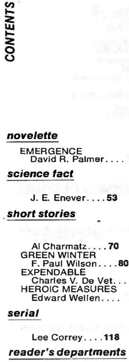 novelette EMERGENCE David R.Palmar science fact J. E. Enever 53 short stories AI Charmatz .70