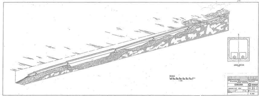 by the Norwegian design Standard NS 3473 at that time. Figure 1 Submerged concrete bridge (tunnel)