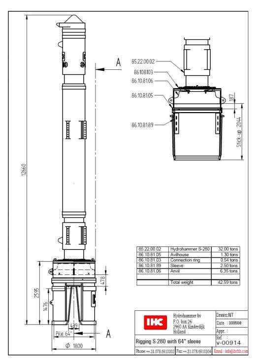 16 Sheet piles Special sleeve: • Sleeve suitable for piling between sheet piles.