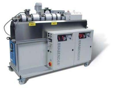 equip- ment are available as additional equipment. Twin screw extruder CTSE • Counter-rotating • Conical