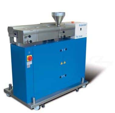 This extruder is also available as stand-alone version. Twin screw extruder TSE 35 / 17 D