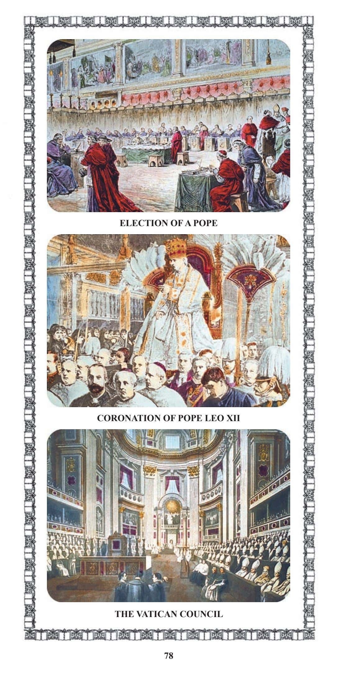 ELECTION OF A POPE CORONATION OF POPE LEO XII THE VATICAN COUNCIL 78