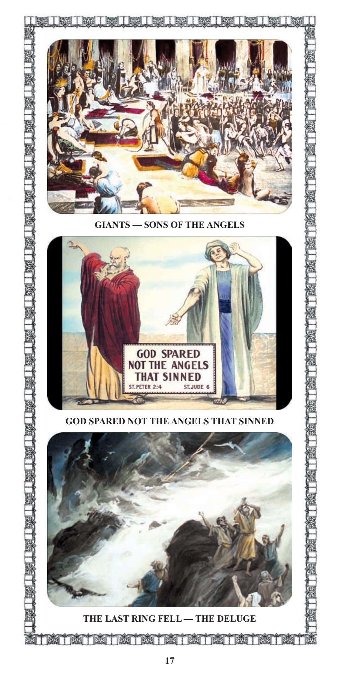 GIANTS — SONS OF THE ANGELS GOD SPARED NOT THE ANGELS THAT SINNED THE LAST