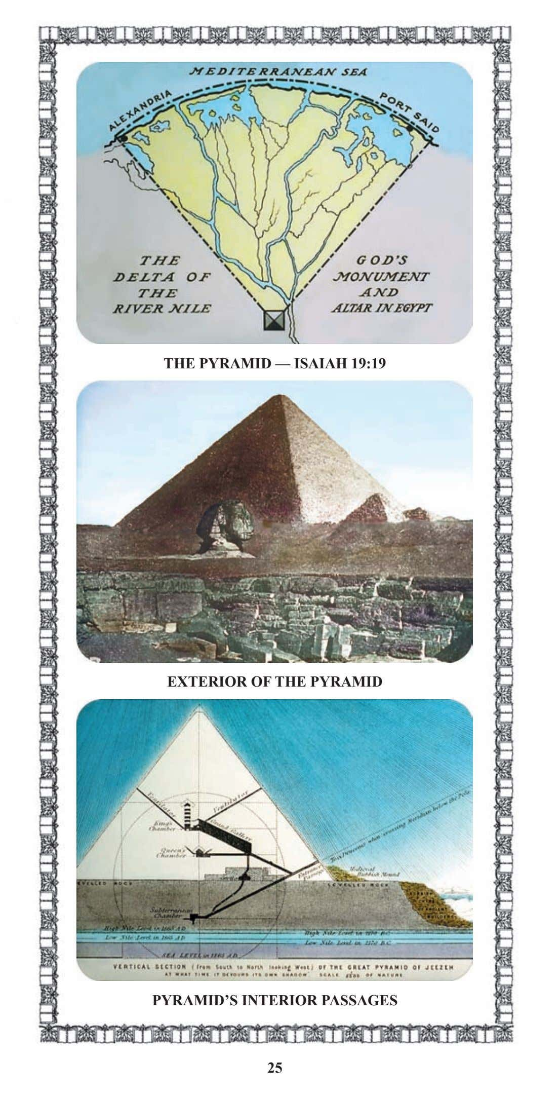THE PYRAMID — ISAIAH 19:19 EXTERIOR OF THE PYRAMID PYRAMID'S INTERIOR PASSAGES 25