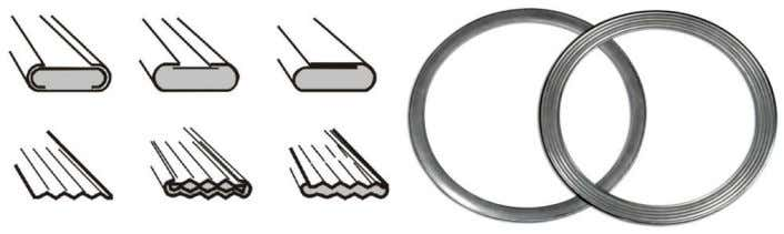 gaskets are commonly used in heat exchangers & valve. Kamm/ Cam profile Gasket Kamm/ Cam profile