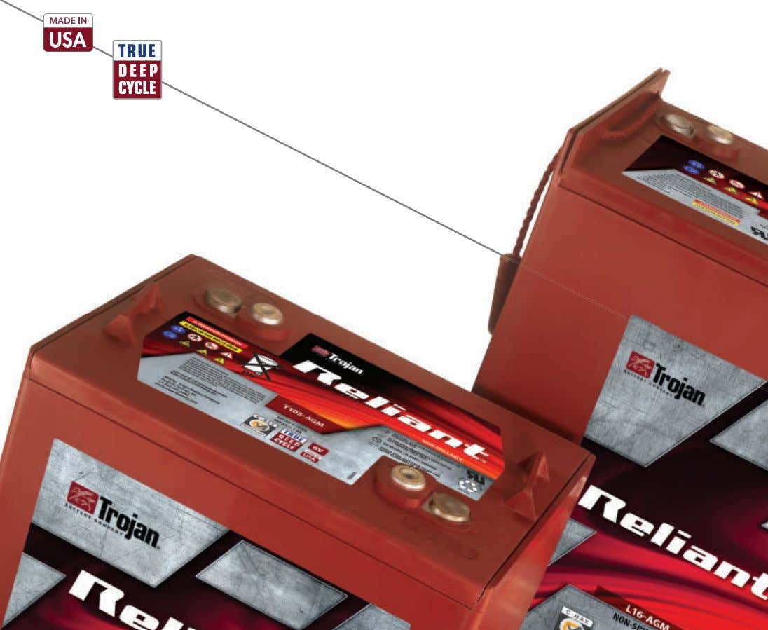 tion — Reliant AGM +1 562-236-3000 / trojanbattery.com C-MAX TECHNOLOGY For more information, enter 1 at