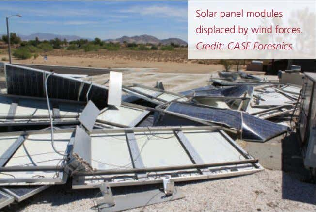 Solar panel modules displaced by wind forces. Credit: CASE Foresnics.