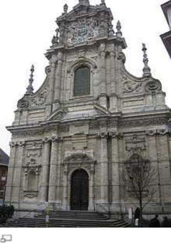 Church of St. Michel in Leuve n , Belgium by Willem Hesius (1650) Baroque architecture in