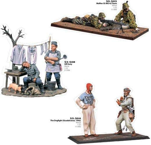 S5-S03 Waffen SS MG 42 Team Metal 1:32 ©1989 S5-S08 Off Duty Metal 1:32 ©1996