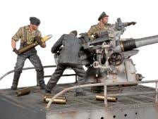 in English, French, German, Spanish and Japanese S5-S10 U-Boat VII C, Deck Gun and Crew Metal