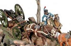 The Napoleonic Wars 54mm 1:30 S7-S02 French Napoleonic Line Artillery Train (1808-1813) Metal and resin base