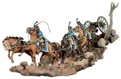 horses complete with harness, reins, and hitch chains · Painting guide and full assembly instructions included