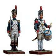 (1814) Metal and resin base The Napoleonic Army in 30mm 30mm NA-001 Guard Grenadier Private at