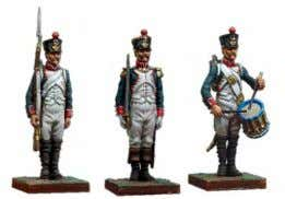 Metal and resin base The Napoleonic Army in 30mm 30mm NA-001 Guard Grenadier Private at Attention