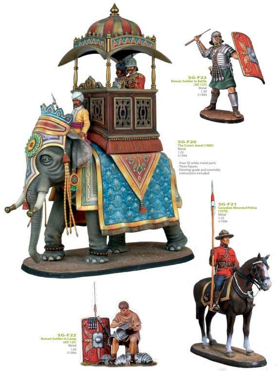 SG-F23 Roman Soldier in Battle (AD 125) Metal 1:30 ©1994 SG-F20 The Crown Jewel (1880)