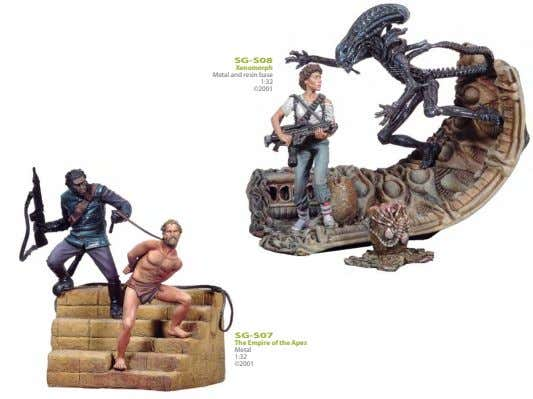 SG-S08 Xenomorph Metal and resin base 1:32 ©2001 SG-S07 The Empire of the Apes Metal