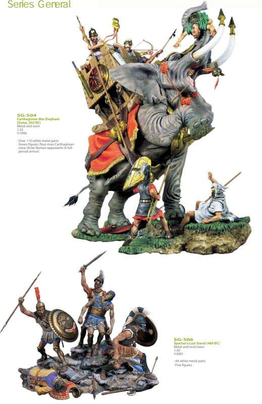 Series SG-S04 Carthaginian War Elephant (Zama, 202 BC) Metal and resin 1:32 ©1996 · Over