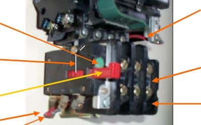 of OL contact is factory wired to coil terminal (red wire). Factory installed coil jumper from