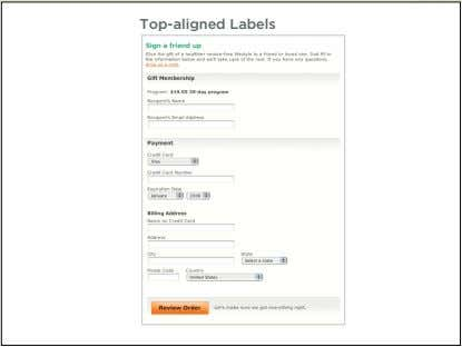 Top-aligned Labels 17