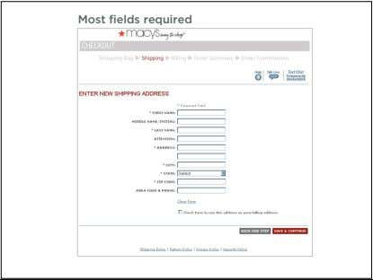 Most fields required 27