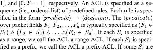 , and , respectively. An ACL is specified as a se- quence (i.e., ordered list)