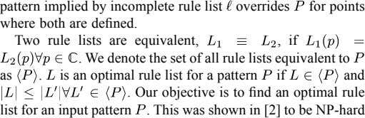 pattern implied by incomplete rule list where both are defined. overrides for points Two rule