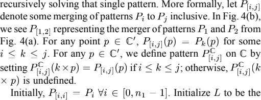 recursively solving that single pattern. More formally, let denote some merging of patterns to inclusive.