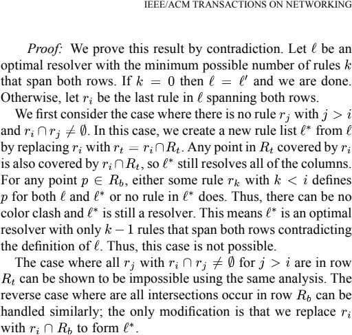 IEEE/ACM TRANSACTIONS ON NETWORKING Proof: We prove this result by contradiction. Let be an optimal