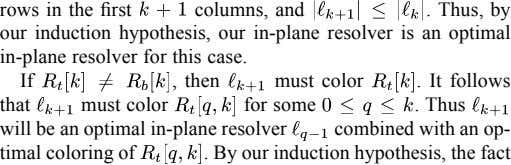 rows in the first columns, and . Thus, by our induction hypothesis, our in-plane resolver