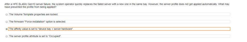 bay. However, the server profile does not get applied automatically. What may have prevent the profile