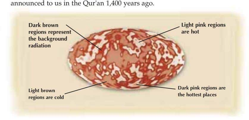 announced to us in the Qur'an 1,400 years ago. Dark brown regions represent Light pink regions