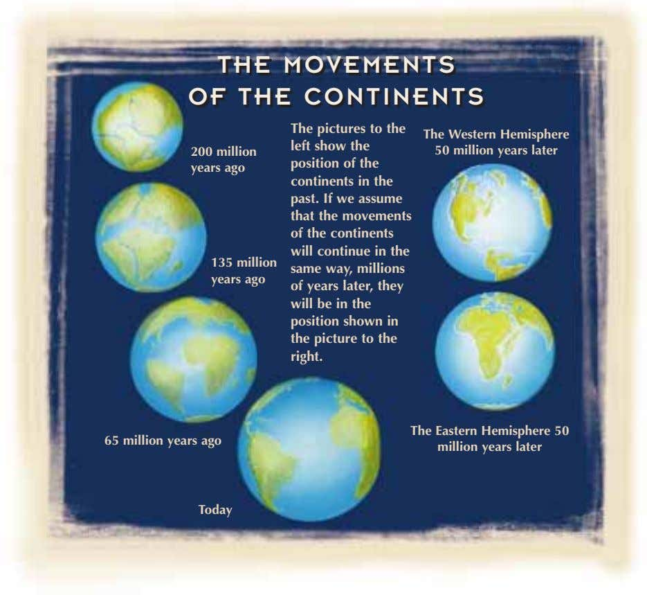THE MOVEMENTS THE MOVEMENTS OF THE CONTINENTS OF THE CONTINENTS 200 million The Western Hemisphere 50
