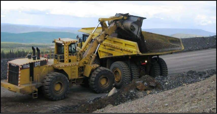 truck in square to the loader, directly under the bucket. FAIRFIELD MINES Loader operator dumps first