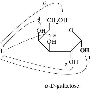 6 4 CH 2 OH OH O 3 OH OH 1 2 OH α-D-galactose