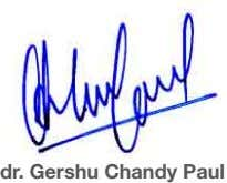 dr. Gershu Chandy Paul