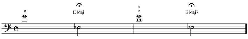 62 Example 7.1. Eb Major with harmonics Another very practical use for the octave harmonics is