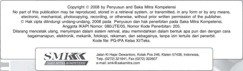 Copyright © 2008 by Penyusun and Saka Mitra Kompetensi No part of this publication may