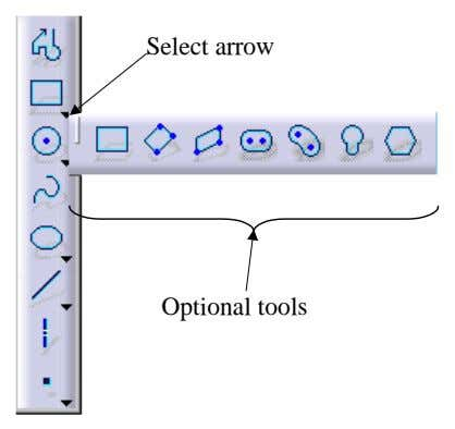 Select arrow Optional tools