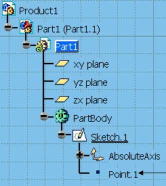 a Point.1 has been CATIA V5 Basic Workbook Figure 1.12a Point (1,1) Constraints Point (0,0) Figure