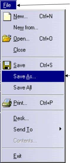 window select the S ave button. Figure 1.40 Figure 1.39 23.2 23.3 NOTE: Remember the file