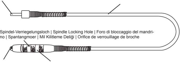 Spindel-Verriegelungsloch | Spindle Locking Hole | Foro di bloccaggio del mandri- no | Spantangmoer |